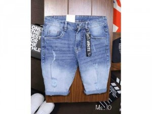 Quần short jeans nam cao cấp rách wax1
