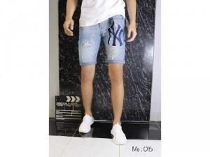 Quần short jeans nam cao cấp rách YN
