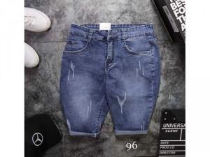 Quần short jeans nam cao cấp rách wax 3