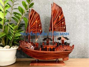 Mô Hình Thuyền Buồm Gỗ Hạ Long Rồng   Gỗ Tràm   Thân 40cm