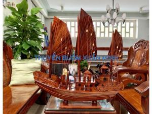 Mô Hình Thuyền Buồm Gỗ Hạ Long Rồng | Gỗ Tràm | Thân 100cm