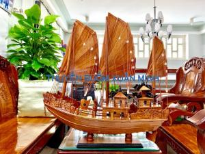Mô Hình Thuyền Buồm Gỗ Hạ Long Rồng | Gỗ Giáng Hương | Thân 60cm