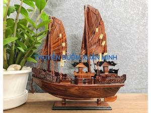 Mô Hình Thuyền Buồm Gỗ Hạ Long Rồng | Gỗ Cẩm Lai | Thân 40cm