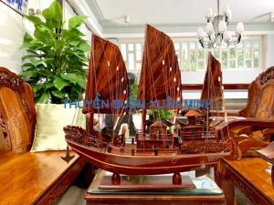 Mô Hình Thuyền Buồm Gỗ Hạ Long Rồng | Gỗ Cẩm Lai | Thân 60cm