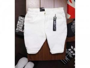 Quần short jeans nam cao cấp trơn Ms4143
