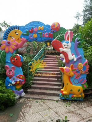 Cung cấp tượng vườn cổ tích trẻ em cho trường mầm non, khu vui chơi, sân chơi