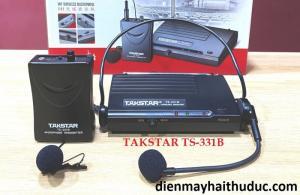 Micro không dây Takstar TS-331B hỗ trợ chòang đầu và cài áo