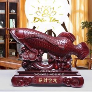 Tượng Cá Rồng Phong Thuỷ Màu Cánh Gián