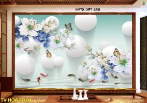 Tranh hoa 3D - tranh gạch
