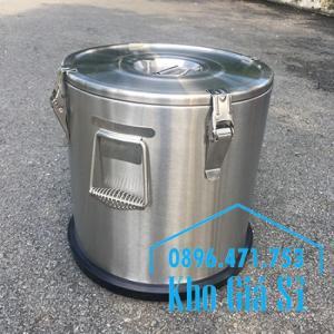 Thùng/ Nồi inox vận chuyển đồ ăn, thùng cách nhiệt, giữ nhiệt vận chuyển nước lèo, nước phở tại Nha Trang
