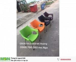 Bán ghế nhựa có tay vịn