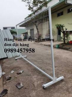 2020-09-27 08:24:05  11  Sản xuất hàng rào khung di động, Hàng rào 1m5x2,5m, 1,8m, 2m, 2,2m 38,000