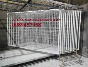2020-09-27 08:24:05  10  Sản xuất hàng rào khung di động, Hàng rào 1m5x2,5m, 1,8m, 2m, 2,2m 38,000