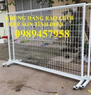 2020-09-27 08:24:05  7  Sản xuất hàng rào khung di động, Hàng rào 1m5x2,5m, 1,8m, 2m, 2,2m 38,000