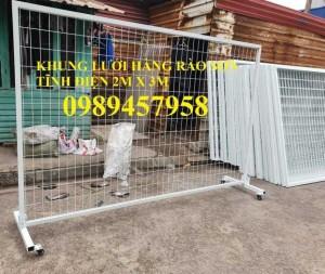2020-09-27 08:24:05  6  Sản xuất hàng rào khung di động, Hàng rào 1m5x2,5m, 1,8m, 2m, 2,2m 38,000