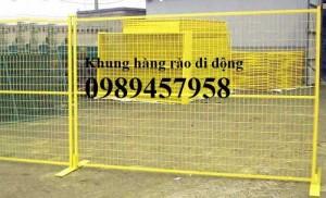 2020-09-27 08:24:05  4  Sản xuất hàng rào khung di động, Hàng rào 1m5x2,5m, 1,8m, 2m, 2,2m 38,000