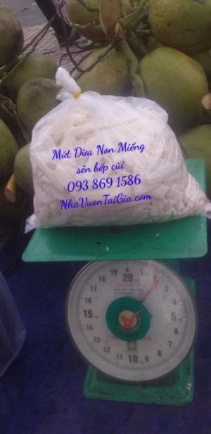 Mứt dừa non miếng sên đường phèn