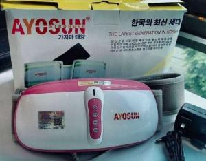 Đai massage rung nóng giảm béo hồng ngoại Ayosun chính hãng Hàn Quốc,đai quấn rung đánh tan mỡ