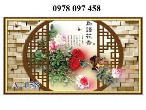 Tranh vườn hoa - tranh gạch men