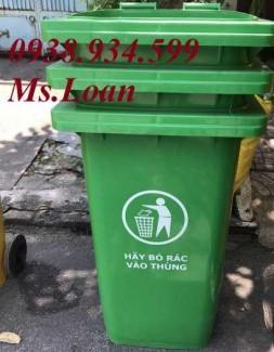Thùng rác công cộng 120 lít, thùng rác nhựa 120 lít