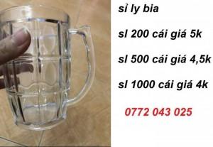 Combo 200 ly quai uống bia giá chỉ 1 triệu đồng