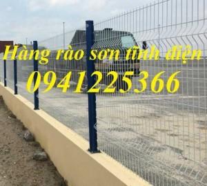 Hàng rào gập đầu mạ kẽm nhúng nóng D5a50x200