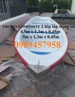 Thuyền composite siêu bền, Thuyền chống chìm, Thuyền chèo tay 3-4 người
