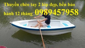 Thuyền chèo tay, Thuyền gắn động cơ chở 4 người, Thuyền khu du lịch biển hồ Hà Nội