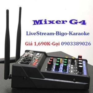 Mixer+Micro không dây Yamaha G4-USB chuyên Livestream, Karaoke