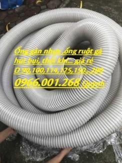 Ống ruột gà hút bụi, ống gân nhựa hút bụi mầu xám D114,D125,D150,D168,D200