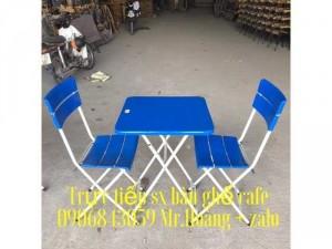 Bàn ghế nhựa chân sắt cafe giá tốt