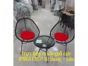 Bộ bàn ghế nhựa giả mây nón giá xưởng