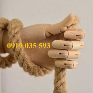 Dây thừng trang trí màu nâu tự nhiên sợi thừng đay,sơ dừa,dây thừng handmade quà tặng
