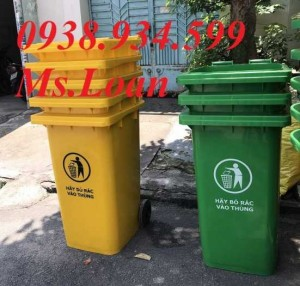 Thùng rác nhựa 240 lít, thùng rác công cộng 240 lít