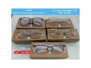 Kính cao cấp Cyxus USA Unisex lọc ánh sáng Xanh, tia UV 400 bảo vệ mắt trước thiết bị đện tử.