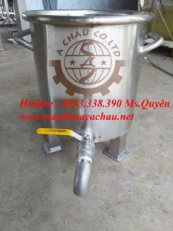 Máy nhũ hóa mỹ phẩm và thùng inox 15 lít