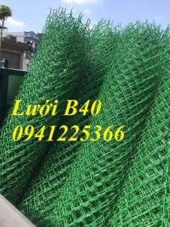Lưới hàng rào b40 bọc nhựa, lưới b40 bọc nhựa, hàng rào sân tenis