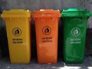 Thùng rác nhựa, thùng rác công cộng, thùng rác 240 lít