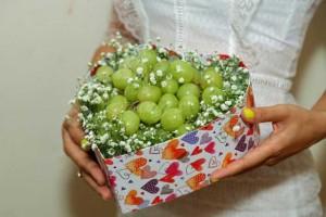 Quà Tặng yêu thương - quà tặng trái cây - Hộp nho mỹ trái tim