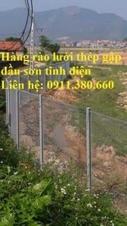 Hàng rào lưới thép gập đầu mạ kẽm sơn tĩnh điện D4, D5, D6,...