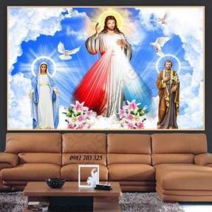Tranh gạch 3D lòng thương xót Chúa
