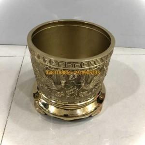 Bát hương bằng đồng vàng dk 20cm