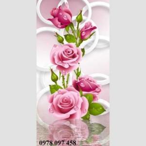 Tranh hoa hồng đỏ trang trí phòng