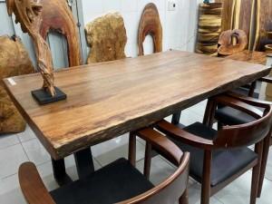 Mặt bàn ăn gỗ Gụ nam phi nguyên tấm dài 1,6m
