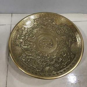 Đĩa đựng trái cây thờ cúng bằng đồng dk 30cm