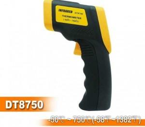 Súng đo nhiệt độ bằng hồng ngoại 750 độ, 1 tia laser DT8750