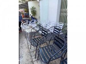 Ghế Cafe khung sắt có tay giá xưởng - nội thất Nguyễn hoàng