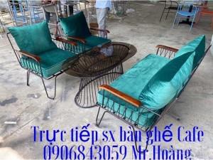 Bộ bàn ghế sắt nệm giá xưởng - nội thất Nguyễn hoàng