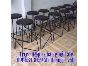Ghế bar khung sắt mặt nệm giá xưởng - nội thất Nguyễn hoàng