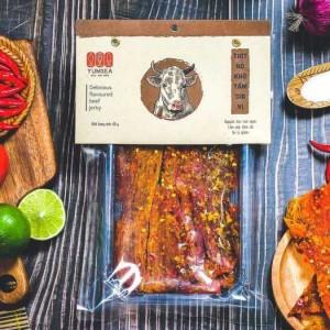 Thịt Bò Khô Tẩm Gia Vị Langfarm 80g,  Mẫu Hút Chân Không - MSN181625